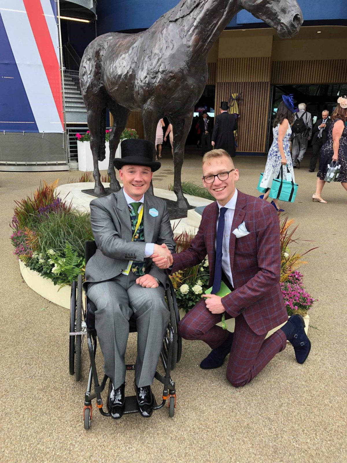 Freddy Tylicki wearing Trotter & Deane suit at Royal Ascot
