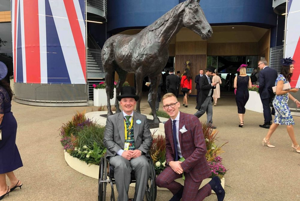 Freddy Tylicki, Trotter & Deane brand ambassador wearing suit at Royal Ascot