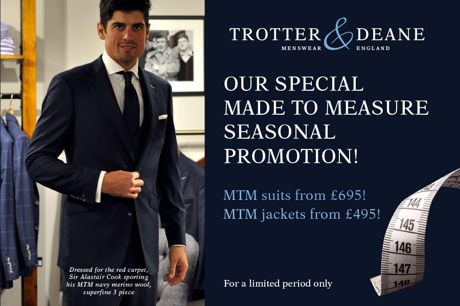 Made to Measure Suit Promotion 2020