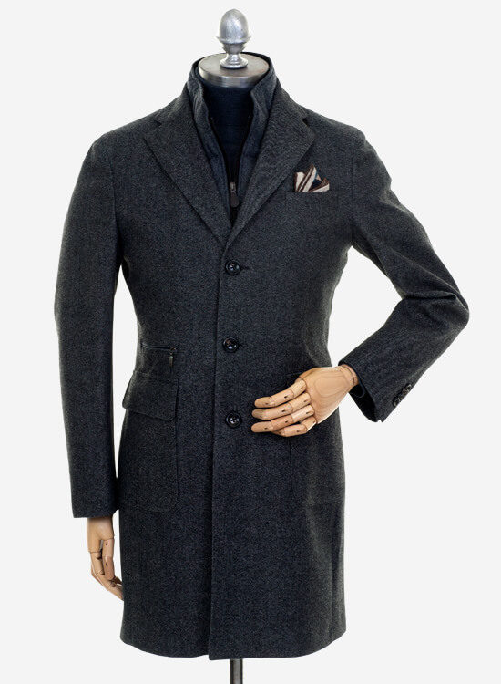 Loro Piana Tailored Coat With Storm System Technology