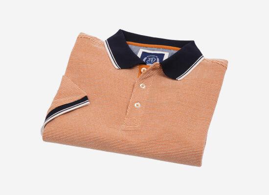 Two Tone Cotton Jaquard Polo